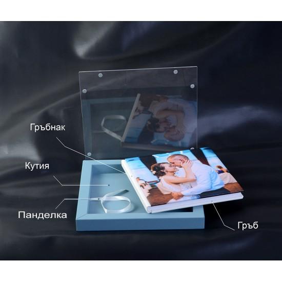 Луксозна книга и кутия с плексигласов капак и магнитно затваряне ФБ-20